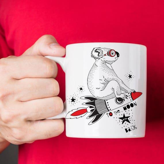 To The Moon and Back Koala Coffee Mug - Cute Mug - Gift for Him - Gift for Her - Koala Mug