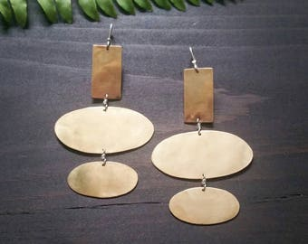 Klara . Modern Bronze Earrings