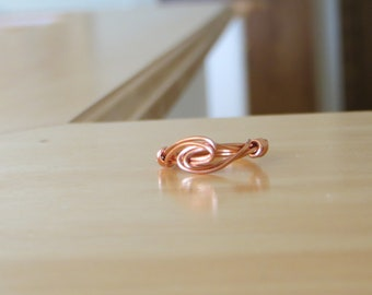 Simple Copper Wire Wrapped Ring