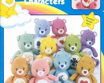 Care Bears Crochet Pattern ,Crochet Toy Pattern ,Amigurumi pattern, Doll Crochet Pattern,English Crochet Pattern EBook/ PDF/Instant Download