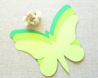 Butterfly die cuts (A) Green butterfly die cuts Yellow butterfly cutouts,Wedding Butterfly,Paper butterfly die cuts,Butterfly wall decor