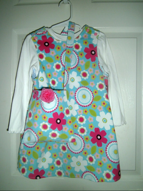 Girls Corduroy Jumper With Matching Handbag, Back to School, Handcrafted, Corduroy Dress, Toddler Dress, Preteen Dress, Floral Print Dress