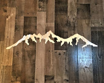 Mt. Whitney Mountain Range, Metal wall art,  California Mountains. Tallest mountains in america. Great birthday gift. Hiking and hiker, 4ft