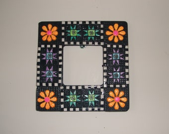 Blue and Green Quilt Frame