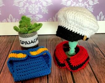 Crochet Newborn Popeye Photo Prop