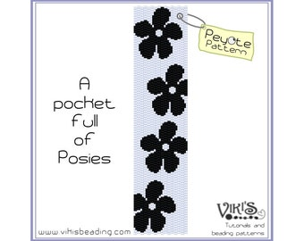 Peyote Pattern: A pocket full of Posies bracelet - INSTANT DOWNLOAD pdf - Save when you buy more