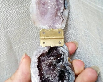 Geode Box / Geode Jewelry Box / Crystal Jewelry Box / Occo Geode/ Amethyst
