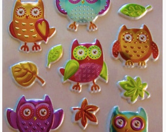 Beautification - Lot of 16 stickers embossed - OWLS