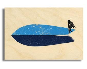 "Surf Art Wood Print Limited Edition ""Fish"""