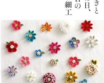 Kawaii Traditional JAPANESE TSUMAMI Fabric Flowers - Japanese Craft Book MM