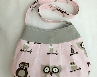 Pink Hooty Owl Pleated Purse, Handbag