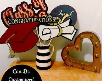 Graduation Photo Booth Props | School Color Photo Booth Props | High School Graduation | College Graduation | Graduation Party Decoration