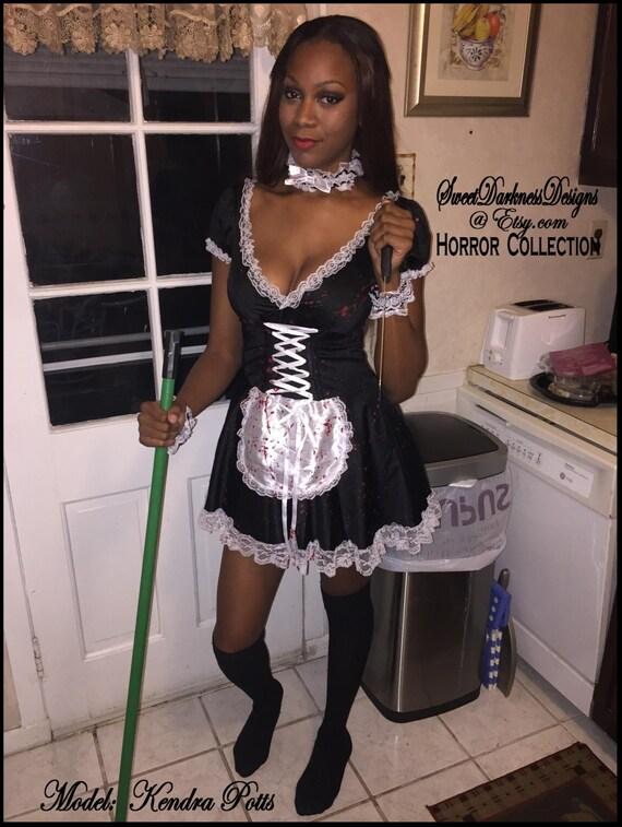 Hot ebony maid