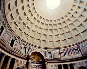 rome italy photography, europe photography, travel, roman temple, architecture, Inside the Pantheon R10