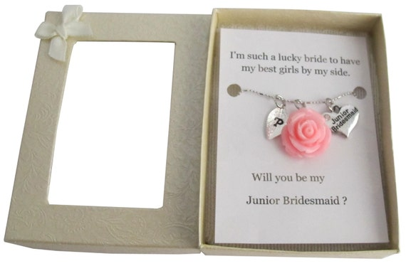 Personalized Junior Bridesmaid Necklace, Jr Bridesmaid Gift Junior Bridesmaid Necklace Flower Girl Gift Bridesmaid Gift Free Shipping In USA