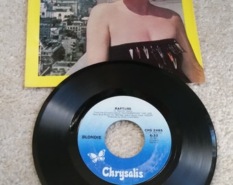 "Blondie (7"" Single) -  Rapture (GREAT CONDITION/80s Vinyl Record/ Grandmaster Flash/Fab Five Freddy)"