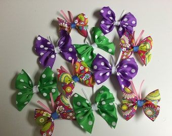 Butterfly ribbon sculpture hair bow