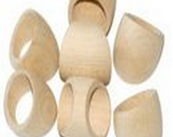 Plain Wooden Ring/ Unpainted Wooden Jewellery/ Jewellery Making Supplies