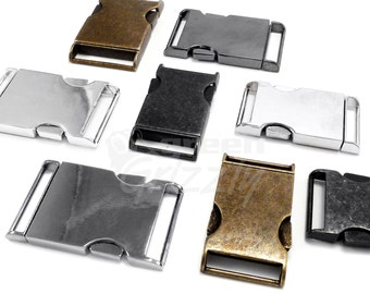 Metal side release buckles for webbing, 25mm, AL2