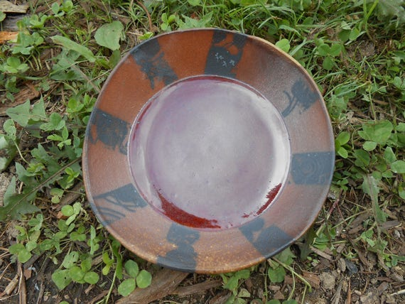 Rising Sun Wood Fired Ceramic Dish