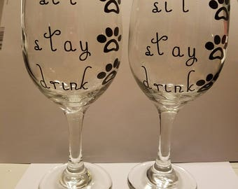 Dog lover's Wine Glass