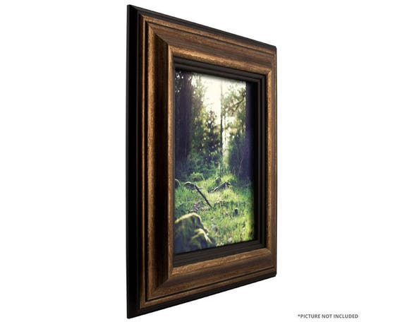 Craig Frames, 14x18 Inch Aged Gold and Black Picture Frame, Sonora ...
