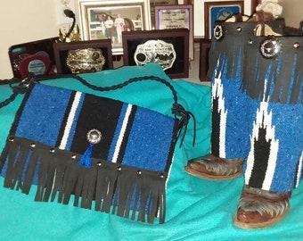 Boot rug & Purse set