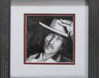 Bob Dylan Pencil Portrait-J D Hillsberry