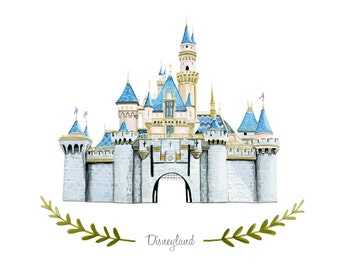 Custom Disneyland Castle Illustration - Archival Art Print