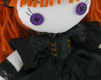 Lil' Miss Witch : Witch Plushie Handmade