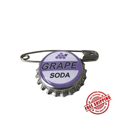 Grape Soda Pin Bottle Cap Pin Grape Soda Badge Bottle Cap