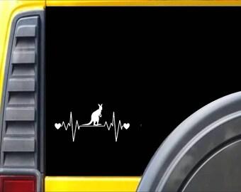 Kangaroo Lifeline Window Decal Sticker *I226*