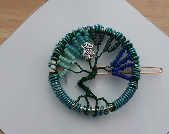 Tree of Life Hairclip Style Shawl Pin