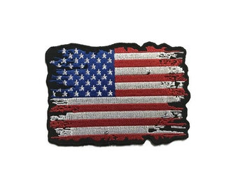 Patch l Antiqued American Flag