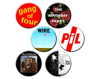 """Indie Badge Pack #4 - Indie Band Heavy Hitters Pack of Half Dozen Quality 1.25"""" Indie Music Pinback Buttons or Pins"""