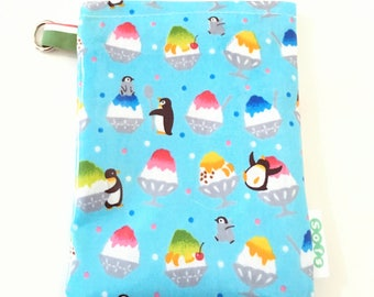 sofs offers a small laminated echino fabric ipod pouch. In happy sunday!