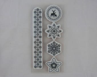 Stamp clear up: Christmas, snowflakes