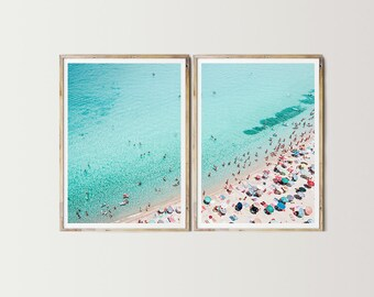 Beach Diptych Print   Digital Art, Beach Printable, Beach Wall Art, Photo  Collage