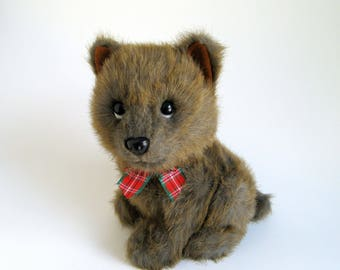 Vintage Terrier Dog Stuffed Animal Yancy 1990s Toy 24K Polar Puffs Special Effects 1992 Toto Wizard of Oz