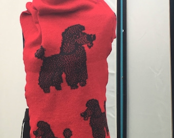 Poodle scarf, poodle wrap, knitted shawl