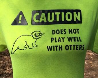 Loutre calembours chemise - Animal Pun chemise - Jacques cadeaux - T-shirts drôle - Nerd drôle chemise - cadeaux ringard - loutre amant - loutre aime chemise