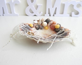 Shells-box for ring bearer accessories for wedding ring pillow