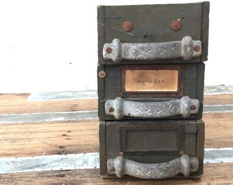 Vintage Card Catalogue Drawers