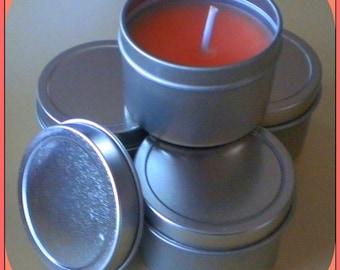 Soy Candle - Mango Papaya scented - Travel Size - 2 oz - Free U.S. Shipping