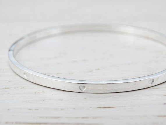 silver slave bangle plain jewellery width sterling bangles