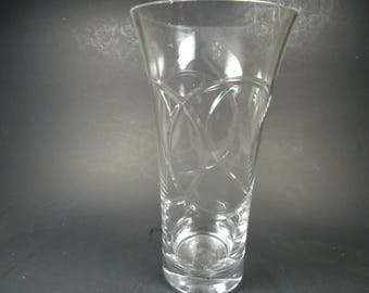 clear tall flower  F.T.D vase
