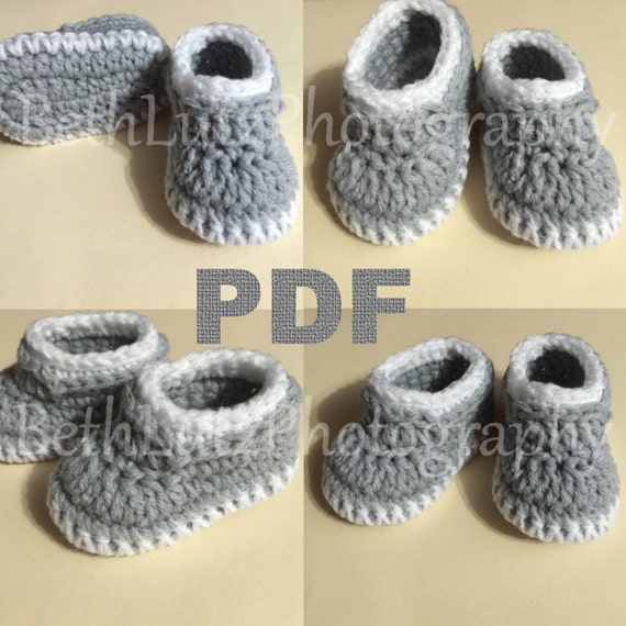3-6 months Crochet Pattern, Crochet Baby Loafers, Baby Booties ...