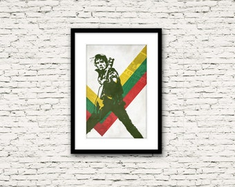Revolution Rock Poster Series: The Clash Poster 1 Paul Simonon