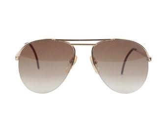 Authentic Apollo Optik Vintage Aviator Mint Sunglasses 16661 Gold Metal Gradient Green