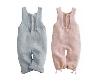 Hand Knit Cashmere/Linen Blend Baby Romper - Boy or Girl - Yarn from Loro Piana